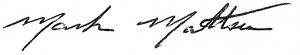Mark Mattson signature