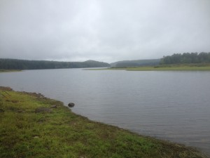 View of the Quabbin Reservoir at the end of Camels Hump Road looking out at Leveau Island.