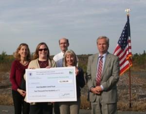 Conservation Partnership Grant big check acceptance web
