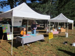 The Station Loop Ramble registration desk. Thanks to Sarah and Trish for helping the runners get registered!