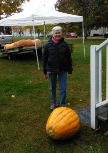 Sheila with her great pumpkin