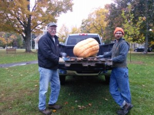 Charles and Ry with their great pumpkin