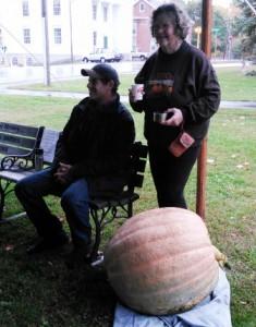 Josh and Ellen with their great pumpkin