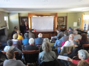Susan Gainley describes what she found about the Frohloff Farm after researching the deeds, probate and town records about the land and people that lived on the land.