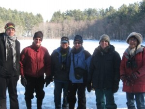 Part of the group after cataloging species for the morning.