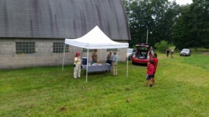 Information booth at the Gross Farm open house last Sunday.