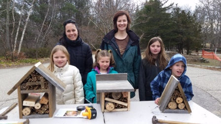 A sampling of native pollinator homes made during our hands-on workshop.