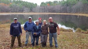 Thanks to Harrison, Tom, Becky, Matt, Annie, Gary, and Cynthia and Rich for their efforts today at Pynchon's Grist Mill Preserve.