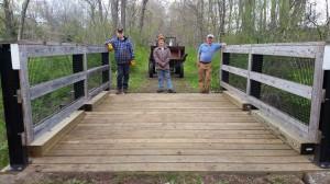 The I-beam bridge with new decking.