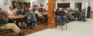 A full crowd at the North Brookfield Senior Center