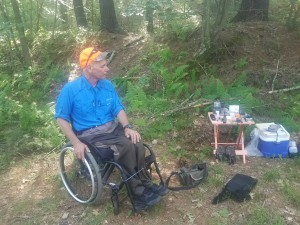 Ken Carlson explaining all the pieces of gear that he takes into the woods when he goes hunting and fishing.