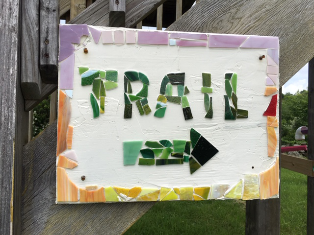 Category 10 - Structure. Trail this way, taken by Jennifer Mott on June 19, 2019 at Mandell Hill