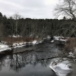 Winter on the Ware River by Chris Komenda