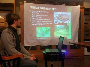 Joshua Bruckner from Mass DAR, highlighting the problem of invasive species.