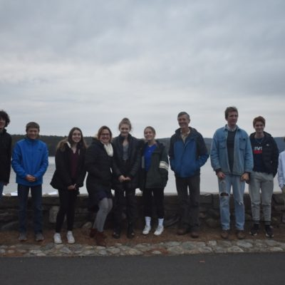 The final walkabout of the day – after the Envirothon teens of Quabbin Regional High School learned about the Quabbin's water supply that carries drinking water all the way to Boston.