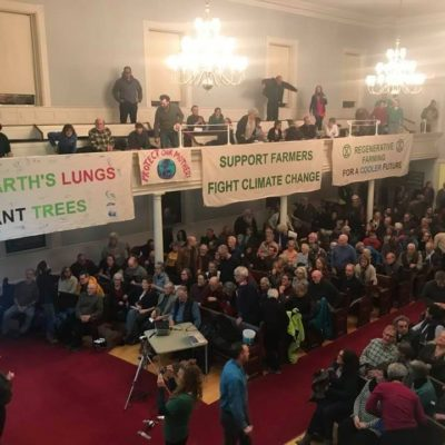 Sophie attended an event featuring Bill Mckibbon in Brattleboro, Vermont. He discussed divesting from fossil fuel companies and ended the event with a Q&A session.